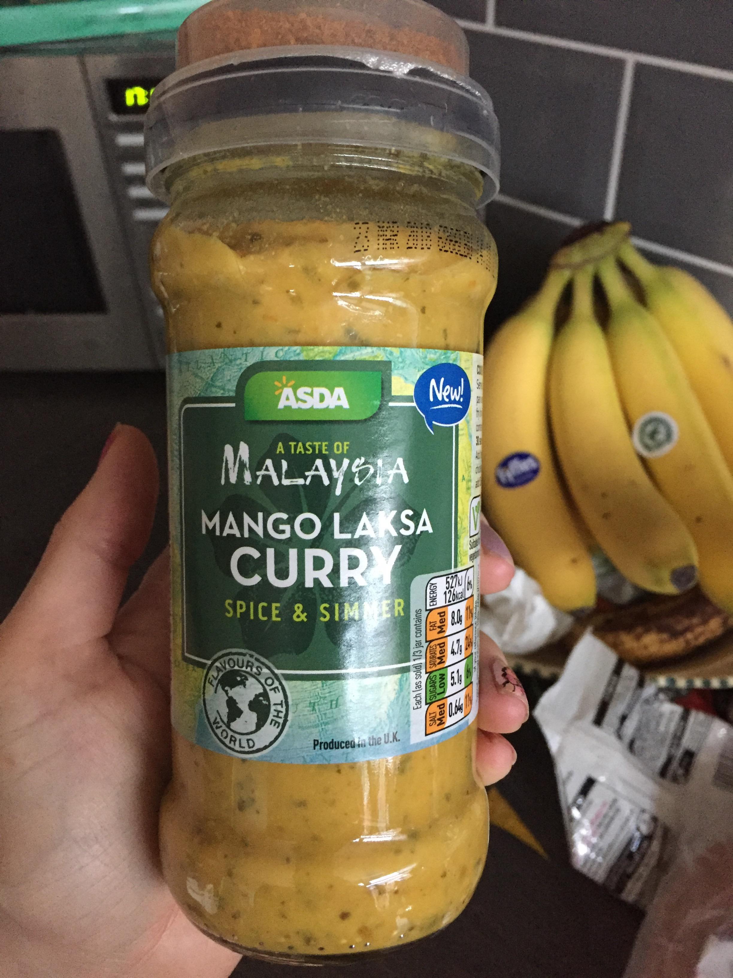 New Asda Mango Laksa Curry Sauce And Homemade Ovenbaked Naan